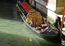 Famous Venetian gondola royalty free stock photos