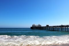 Famous Venice beach California. Viewed from the fishing pier royalty free stock image
