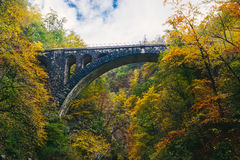 The famous viaduct at Vintgar gorge Canyon, Bled,Triglav,Slovenia,Europe Stock Image