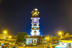 Famous victorian clock tower in Jodhpur Royalty Free Stock Photo