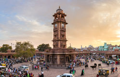 Famous victorian Clock Tower in Jodhpur, India Stock Images