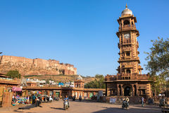 Famous victorian Clock Tower in Jodhpur, India Royalty Free Stock Photos