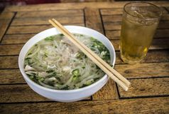 The famous vietnamese speciality the Pho royalty free stock photography