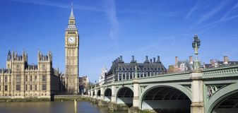 Famous view of Big Ben Stock Photography