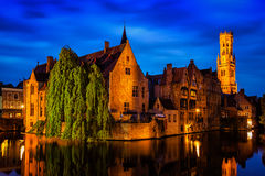 Famous view of Bruges, Belgium Royalty Free Stock Image