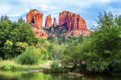 Famous view of Cathedral Rock Royalty Free Stock Photo