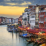 Famous view of Grand Canal Stock Images
