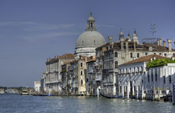 The famous view of the Grand Canal, Venice Royalty Free Stock Photography