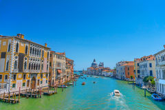 Famous view on Grand canal in Venice Stock Image