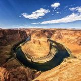 Famous view of horseshoe Bend Stock Photo