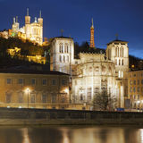 Famous view of Lyon Stock Photos