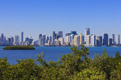 Famous view Miami Royalty Free Stock Photos