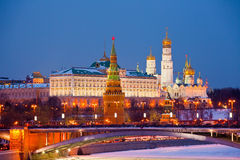 Famous  view of Moscow Kremlin Royalty Free Stock Photos