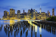 Famous view of New York City Royalty Free Stock Photos