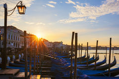 Famous view of Venice with at sunrise Stock Image