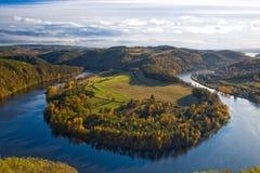 Famous view on Vltava river,  Czech Republic Stock Photography