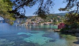 The famous village Assos on Kefalonia royalty free stock photos