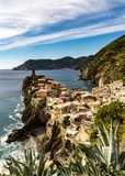 The famous village of Vernazza in Cinque Terre Italy royalty free stock photography