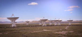 The famous VLA Very Large Array near Socorro New Mexico. This is a shot of the famous VLA Very Large Array near Socorro New Mexico royalty free stock image