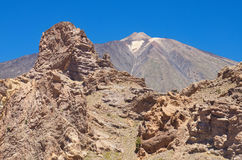 Famous volcanic landscape in Teide National Park, Tenerife, Canary islands, Spain. Royalty Free Stock Photos