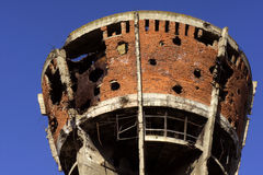 Famous Vukovar water tower. Royalty Free Stock Image