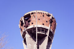 Famous Vukovar water tower. Royalty Free Stock Photos