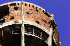 Famous Vukovar water tower. stock photo