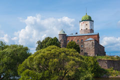 Famous Vyborg castle, North Western Russia Stock Image