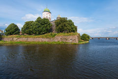 Famous Vyborg castle, North Western Russia Royalty Free Stock Photography