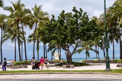 Famous Waikiki Beach Royalty Free Stock Image