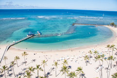 Famous Waikiki Beach Royalty Free Stock Photos