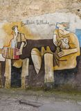 Famous wall paintings in Orgosolo on Sardinia Royalty Free Stock Photography