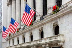 Famous Wall Street in New York City, Manhattan, NYC, USA Stock Image