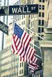 Famous Wall Street sign. In NYC Stock Image