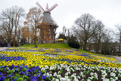 Famous Am Wall Windmill, an important and iconic building in Bremen Stock Images