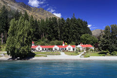 Famous Walter Peak High Country Farm. Queenstown, New Zealand Stock Image
