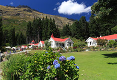 Famous Walter Peak High Country Farm. Queenstown, New Zealand (on the western shores of beautiful Lake Wakatipu Royalty Free Stock Images