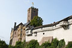 Wartburg Castle. This is the famous Wartburg Castle in Eisenach, Germany. Here, Martin Luther translated the bible Stock Image