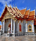 Famous wat the Marble Temple Royalty Free Stock Images