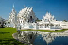 Famous Wat Rong Khun Royalty Free Stock Images