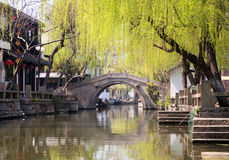 Famous water city - Zhouzhuang Royalty Free Stock Photography