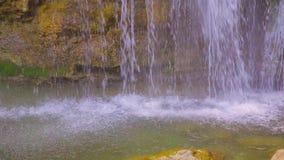 Famous Waterfall Dzhur Dzhur In Motion stock footage