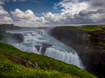 Famous waterfall of Gulfoss in Iceland Stock Images