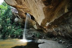Famous waterfall at the northeastern of Thailand Royalty Free Stock Images