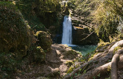 The famous waterfall of Trevi nel Lazio Royalty Free Stock Image