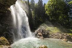 Famous Waterfalls Giessbach in the Bernese Oberland, Switzerland Royalty Free Stock Images