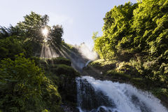 Famous Waterfalls Giessbach in the Bernese Oberland, Switzerland Stock Photography