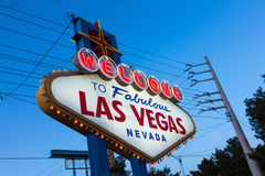 The famous Welcome to Fabulous Las Vegas sign Stock Image