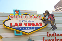 The famous Welcome to Fabulous Las Vegas Sign Stock Photos
