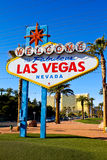 Famous Welcome to Las Vegas sign. Royalty Free Stock Images
